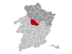 Houthalen-Helchteren - Image: Houthalen Helchteren Limburg Belgium Map