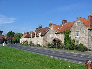 Hovingham village in United Kingdom