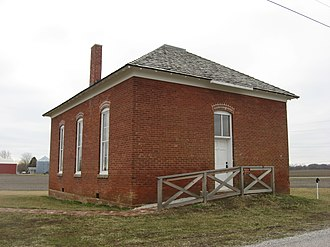 National Register of Historic Places listings in Boone County, Indiana - Image: Howard School near Brownsburg