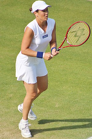 Liezel Huber - Liezel Huber in action at Wimbledon 2013