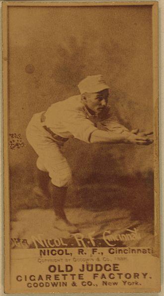 Hugh Nicol - Image: Hugh Nicol baseball card