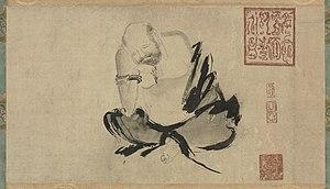 Dazu Huike - Huike Thinking by Chinese Song Dynasty painter Shi Ke (10th century)