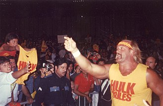 Hulk Hogan - Hogan making his way to the ring in 1989