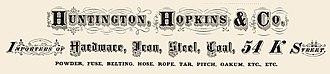 Big Four House - Image: Huntington, Hopkins & Co. logotype 1874