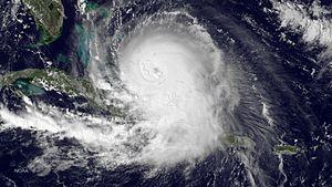 Hurricane Joaquin - Hurricane Joaquin over the Bahamas on October 1