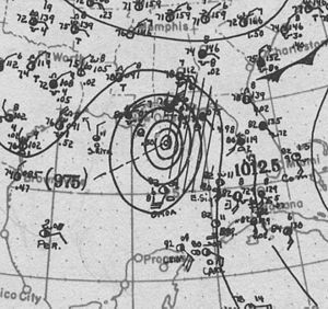 1916 Atlantic hurricane season - Image: Hurricane Two surface analysis 5 Jul 1916