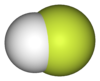 Ball-and-stick model of hydrogen fluoride