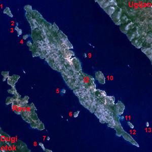 Iž - Image: Iž satelite annotated
