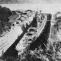 IJN heavy cuiser HAGURO 1928 under construction at MITSUBISHI Nagasaki dry dock.jpg