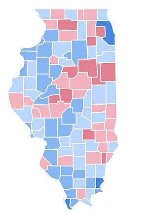 United States Presidential Election In Illinois Wikipedia - Bill clinton 1996 us presidential election results maps