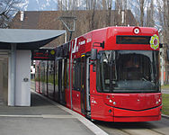 IVB tram car no 351 of type Bombardier Flexity Outlook Innsbruck as line 1 at Bergisel terminus.jpg