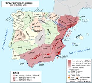 Cartina Completa Spagna.Conquista Romana Della Spagna Wikipedia