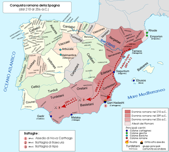 Battle of Baecula - Roman conquest of Carthaginian Spain, 210–206 BC