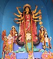 Idol of Goddess Durga at a Panadal in Kolkata 07.jpg