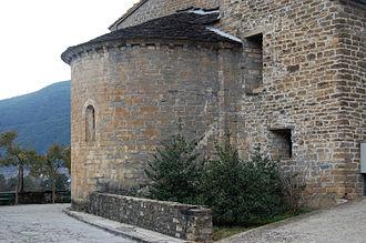 Biescas - Romanesque apse of San Salvador church in Biescas