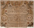 Illustrated family record (Fraktur) found in Revolutionary War Pension and Bounty-Land-Warrant Application File... - NARA - 300068.tif