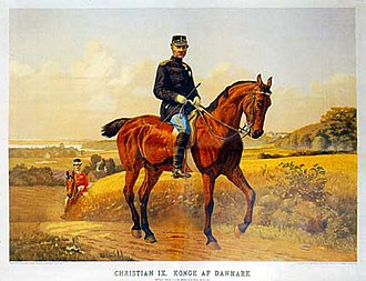 Carl Aller - The first art supplement from 1897: Otto Bache's equestrian portrait of Christian IX of Denmark