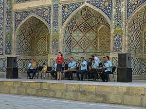 Independence Day (Uzbekistan) - Image: Independence Day music performance in Bukhara