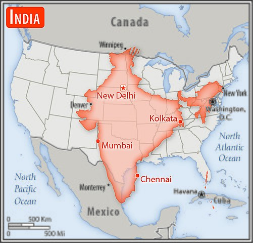 Fileindia Us Area Comparisonjpg Wikimedia Commons - India-us-map