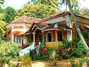 Goan Catholics - A traditional Portuguese-influenced villa of a Goan Catholic family