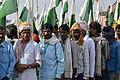 Indian men with flags, Jan Satyagraha 2012, Agra.jpg