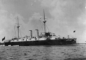 Pascual Cervera y Topete - Cervera's flagship, Infanta Maria Teresa, in 1895