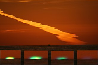 Green flash - The stages of a green flash