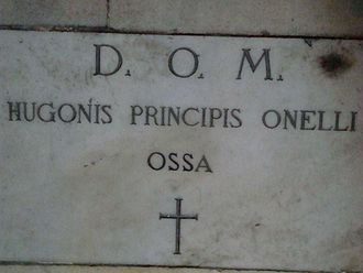 San Pietro in Montorio - Inscription on the tomb of Hugh O'Neill