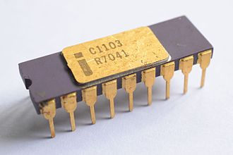 Memory cell (computing) - Intel 1103 DRAM chip