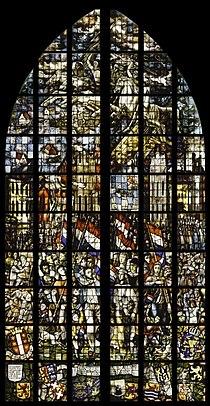 Interieur, gebrandschilderd glas nr. 28a - Het bevrijdingsglas - Gouda - 20416671 - RCE.jpg