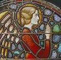 Interieur. Detail glas-in-loodraam van Toorop bij glasatelier Wiegen, Nijmegen - Nijmegen - 20337445 - RCE.jpg