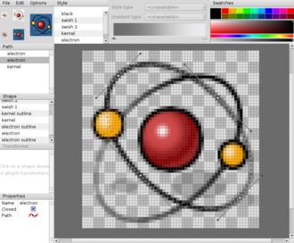 Haiku Vector Icon Format - Haiku kernel icon in Haiku's icon editor Icon-O-Matic