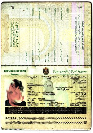 Iraqi passport