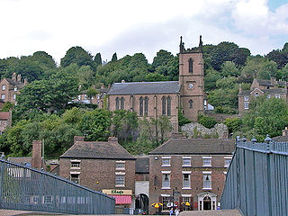 Ironbridge town in Shropshire, England
