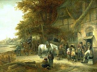Travellers Halting at an Inn