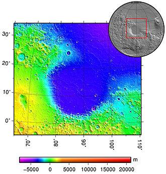 Isidis Planitia - Topography of Isidis Planitia