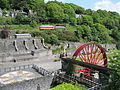 Isle of Man, Laxey Gardens with Manx Electric Tramway Railway Tram (7965473678).jpg
