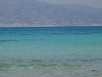 Chrysi (island) - A view of Crete from the island of Chrissi.