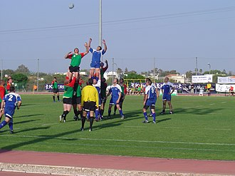 Israel national rugby union team - Israel playing Lithuania in 2009.