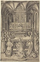 Israhel van Meckenem The Mass of Saint Gregory