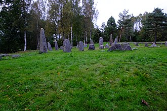 Vestfold - Istrehågan, ancient burial ground which dates to the Roman Iron Age, 1500-500 BCE