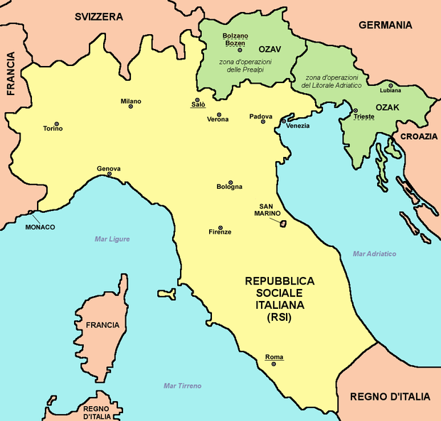 Repubblica Sociale Italiana Wikiwand - Anti fascismos map us