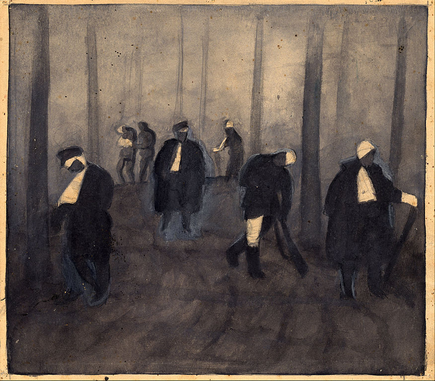 "Jāzeps Grosvalds ""Chemin de cauchemar"" (1916) - Musée National de Lettonie."