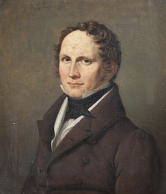 Just Mathias Thiele - Just Mathias Thiele painted by J. L. Lund, 1831, Bakkehusmuseet