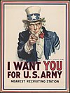 J. M. Flagg, I Want You for U.S. Army poster (1917).jpg