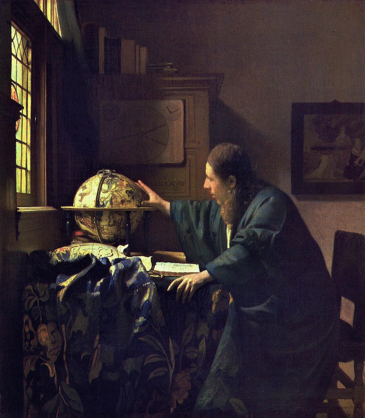 J. VERMEER - El astrónomo (Museo del Louvre, 1688).jpg