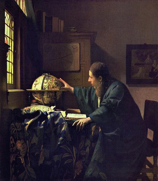 Archivo: J.  VERMEER - El Astrónomo (Museo del Louvre, 1688) jpg.