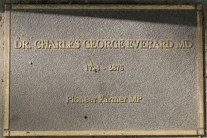 Charles George Everard - Plaque on the Jubilee 150 Walkway (North Terrace, Adelaide).