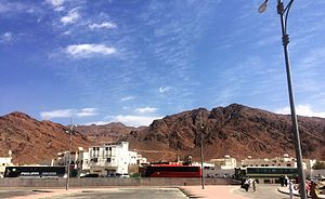 Battle of Uhud - Mount Uhud seen from cemetery of Uhud martyrs