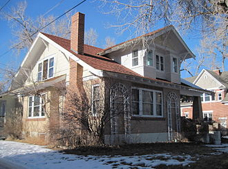 Jackson Park Town Site Addition Brick Row - 635 S. 3rd St., southeast elevation)
